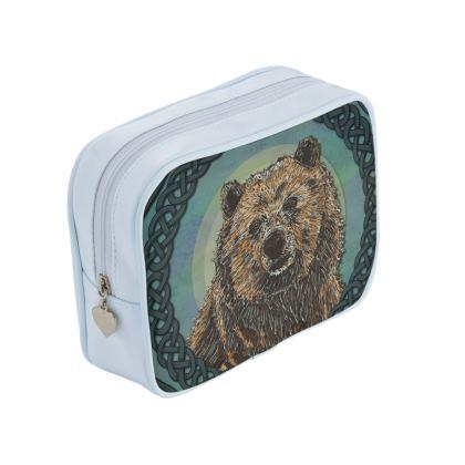 Celtic Brown Bear Make Up Bag