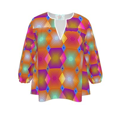 Geometrical Shapes Collection Womens Blouse