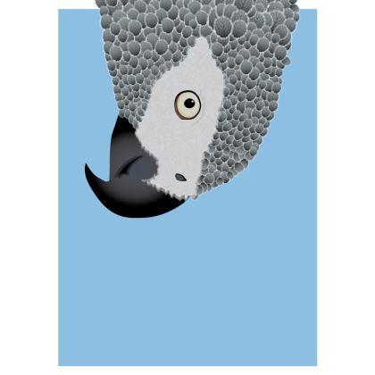 Cheeky African Grey Parrot [SKY BLUE] Spiral Notebook