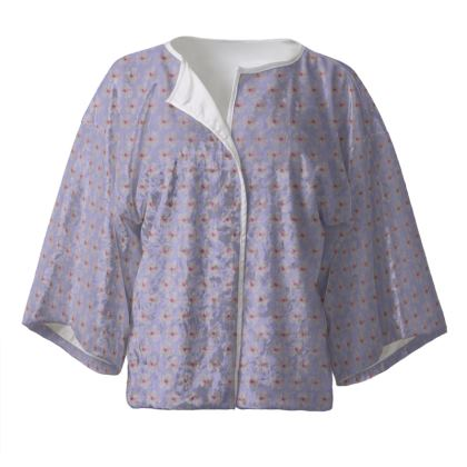 Purple Cherry Blossom Kimono Jacket