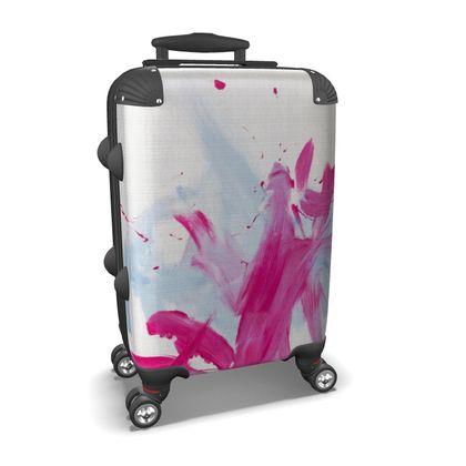 Suitcase pink meets blue