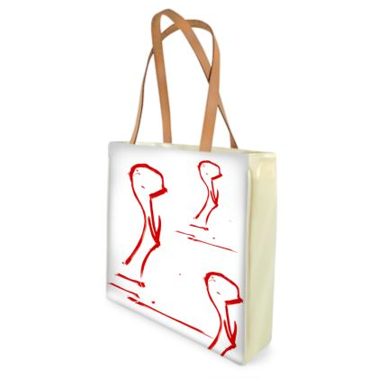 Shopper Bag with a red Duck