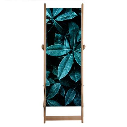 Teal Leaves - Deckchair