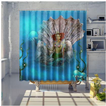 Mermaid on Saint James Bespoke shower curtains