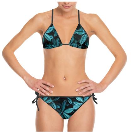 Teal Leaves - Bikini