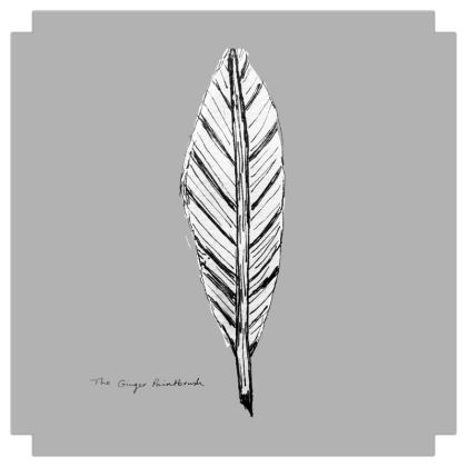 Black and White Feather Grey Square Canvas