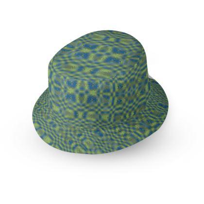 Green Blue 2 Ruby Swirl Bucket Hat