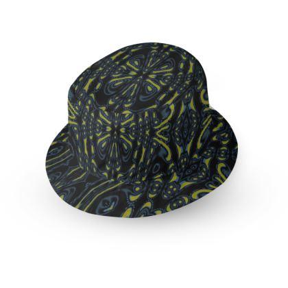 Circle Blossom Swirl Bucket Hat