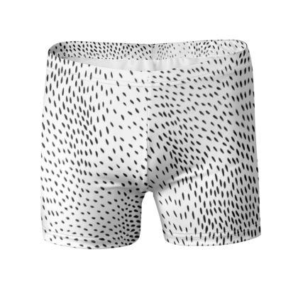Drift Black and White Swimming Trunks