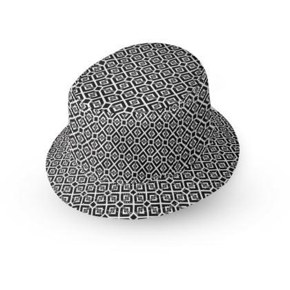 Black and White Stripe Box 2 Bucket Hat