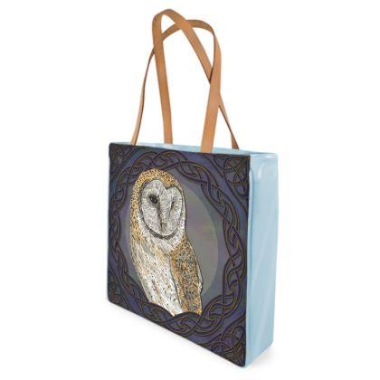Celtic Barn Owl Shopper Bag