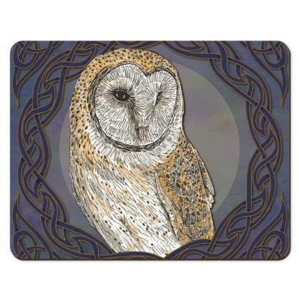 Celtic Barn Owl Placemat Set