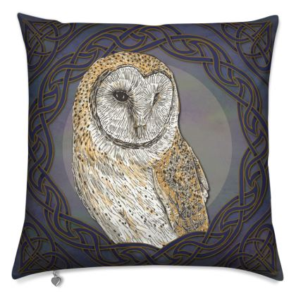 Celtic Barn Owl Cushion