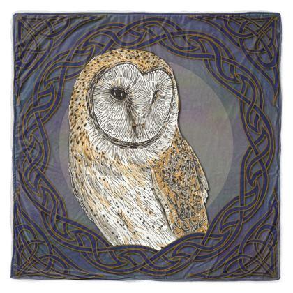 Celtic Barn Owl Throw Blanket