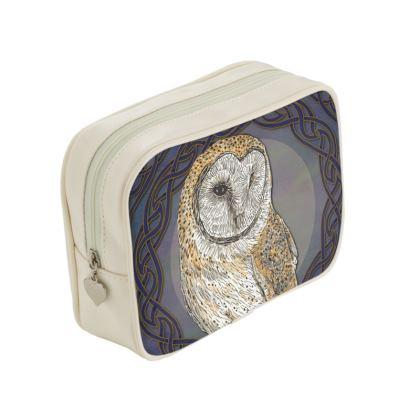 Celtic Barn Owl Make-Up Bag