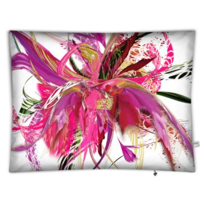 Floor cushion - Golvkudde - Pink flow white