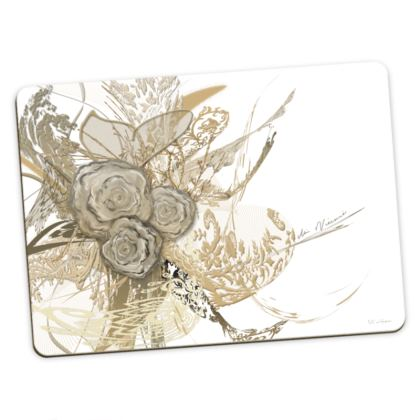 Large Placemats - Stora bordstabletter - 50 shades of lace white