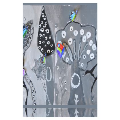 Paper Painting Forest Slip Dress