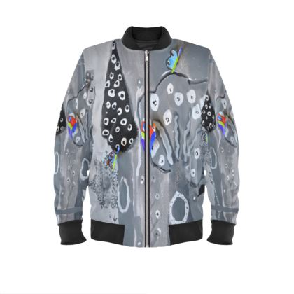 Paper Painting Forest Mens Bomber Jacket