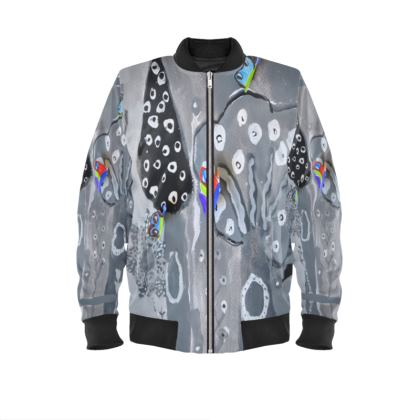 Paper Painting Forest Ladies Bomber Jacket