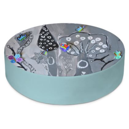 Paper Painting Forest Round Floor Cushions