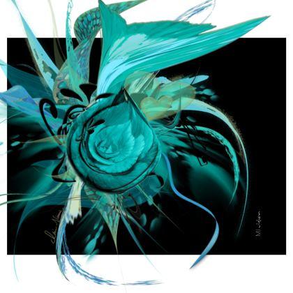 Handbag - Handväska - Turquoise black