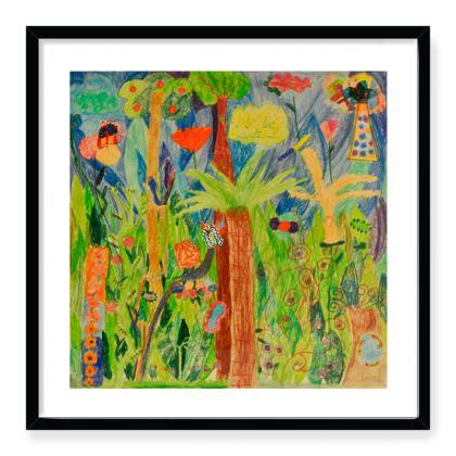 Exotic Forest Framed Art Prints