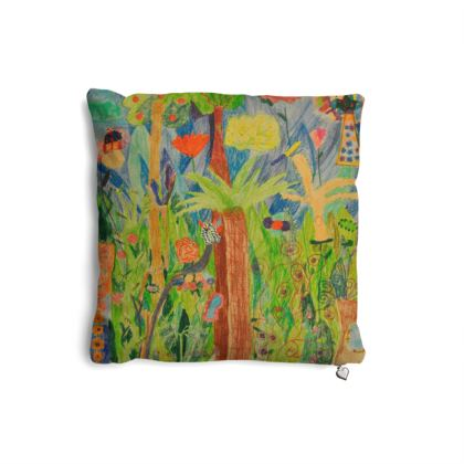 Exotic Forest Pillows Set