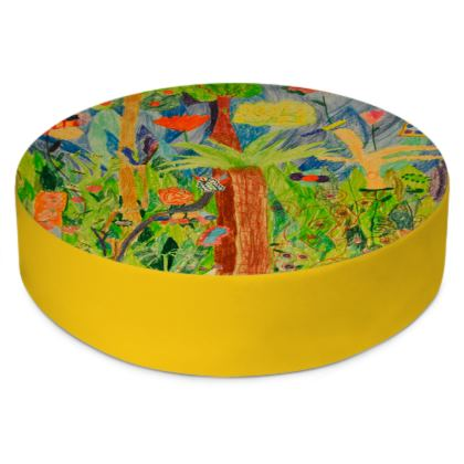 Exotic Forest Round Floor Cushions