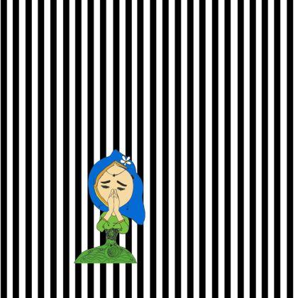 Namaste Meditate Girl Kimono