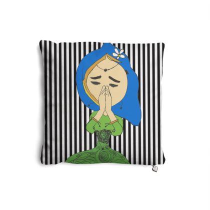 Namaste Meditate Girl Pillows Set