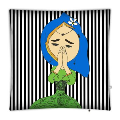 Namaste Mandhala with girl Floor Cushions
