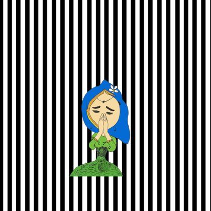 Namaste Mandhala with girl Occasional Chair