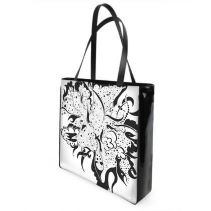Shopper bag - Shopping väska - Black ink white