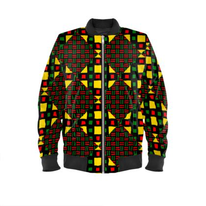 Motherland Connection Kente Bomber Jacket
