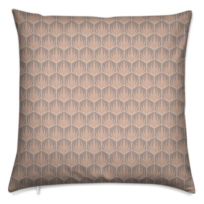 Palm Deco Pattern ~ DESERT OASIS Cushion