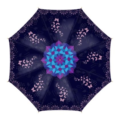 Butterflies and the Lotus of Life High quality Umbrella