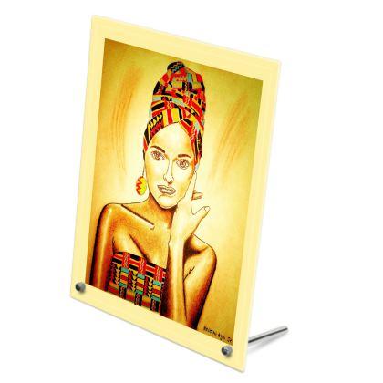 Yellow Glass Print