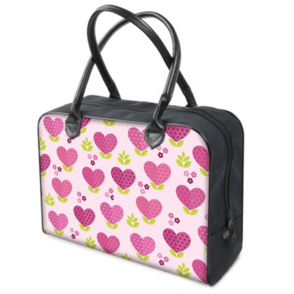Love Pattern With Hearts and Flowers