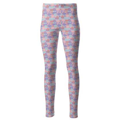 Pastel print Women's high waisted leggings