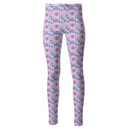Geometric print Women's High waisted leggings