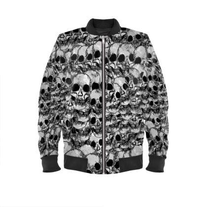 Grunge Skulls Bomber Jacket