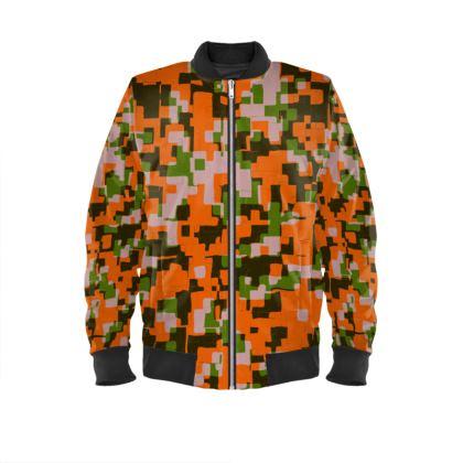 Pixels Blocks Bomber Jacket