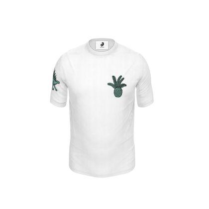 Mens Dinosuar Back Print Cut and Sew T Shirt
