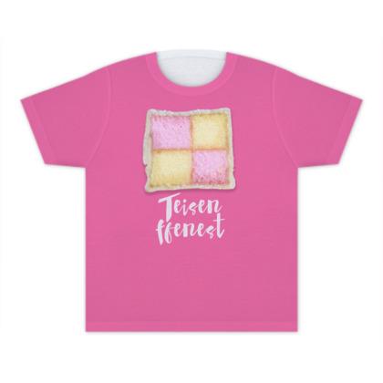 Pink Cake Window Kids T Shirts
