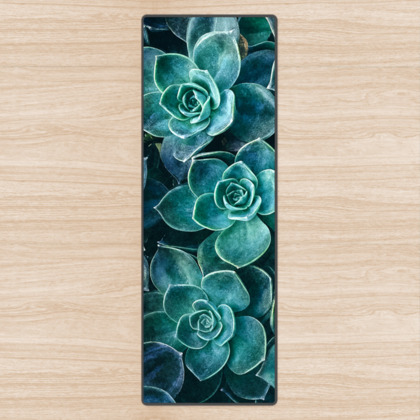 Echeveria Succulents - Yoga Mat