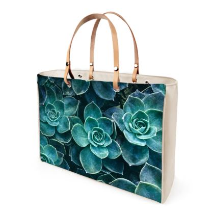 Echeveria Succulents - Leather Handbags