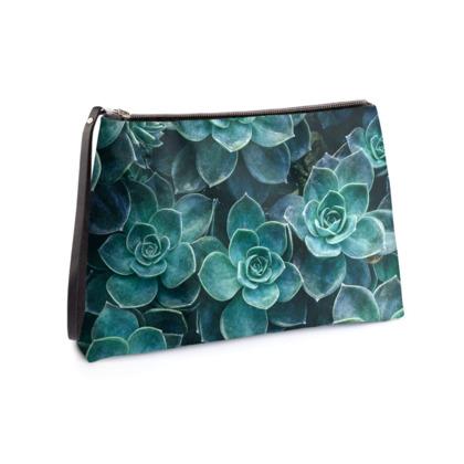83a4e7e970 Echeveria Succulents - Clutch Bag
