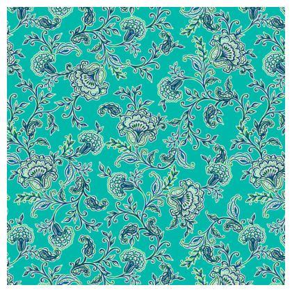 Aqua Luxury Chintz Cushion