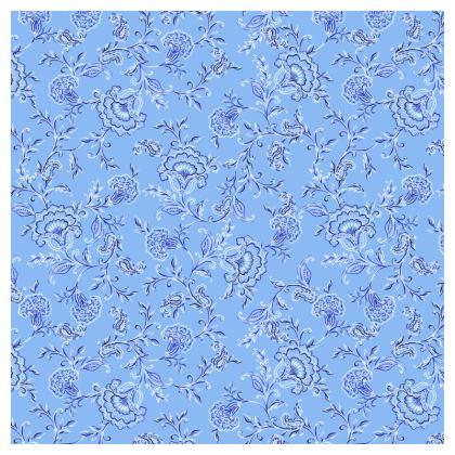 Elegant Light Blue Chintz Luxury Cushion